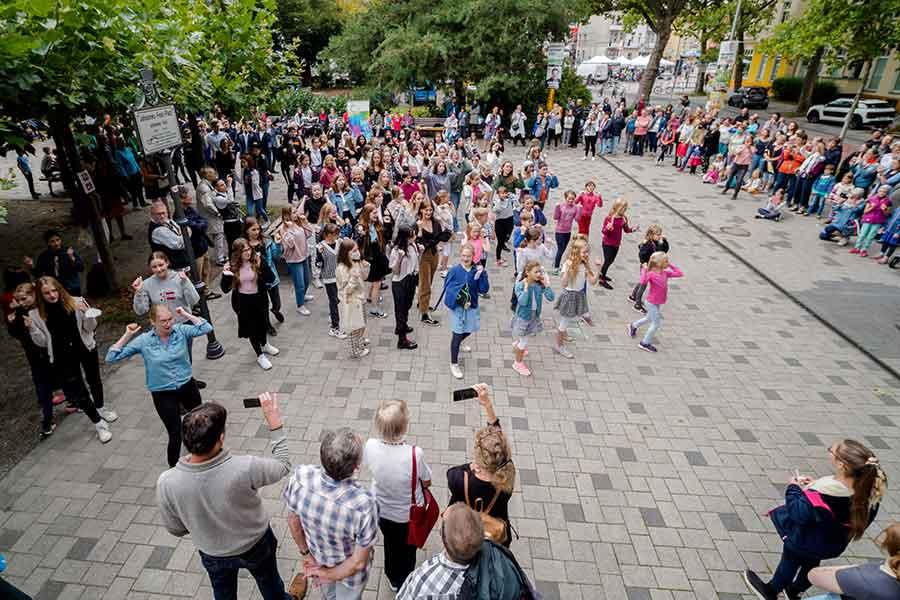 Clara-Schumann-Chor beim Singe-Flashmob